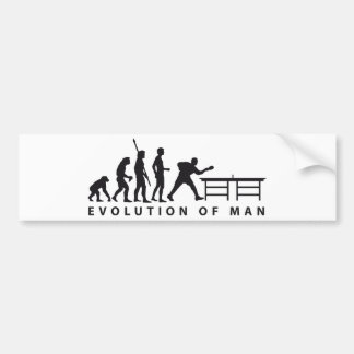 Evolution table tennis B Car Bumper Sticker