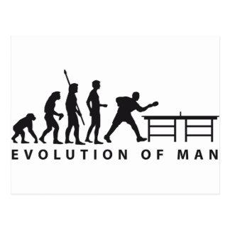 Evolution table tennis B Postcard