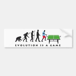 evolution table tennis bumper sticker