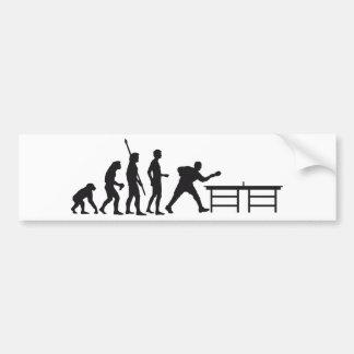 evolution table tennis car bumper sticker