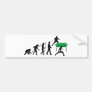 evolution table tennis more player car bumper sticker