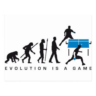 evolution table tennis more player postcard