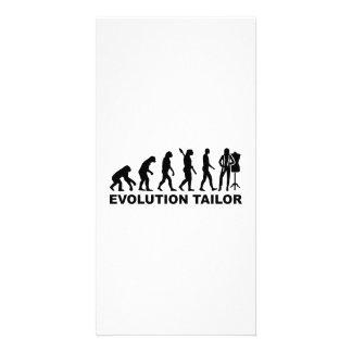 Evolution tailor photo greeting card