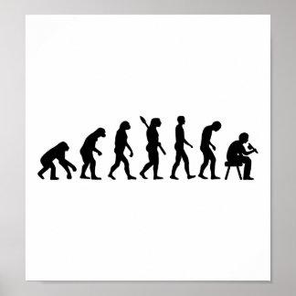 Evolution Tattoo artist Poster