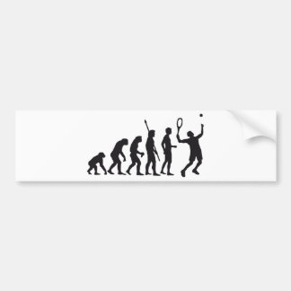 evolution tennis bumper sticker