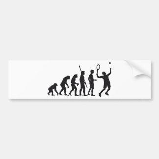 evolution tennis bumper sticker