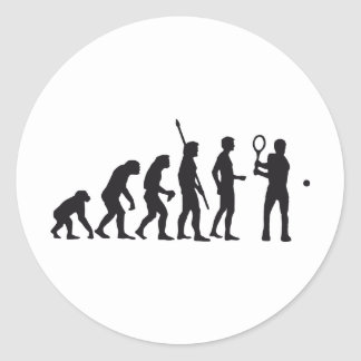 evolution tennis classic round sticker