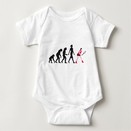 evolution tennis female player body para bebé