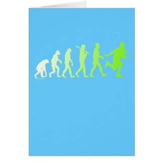 Evolution Tennis Humorous Tennis Tshirt Card
