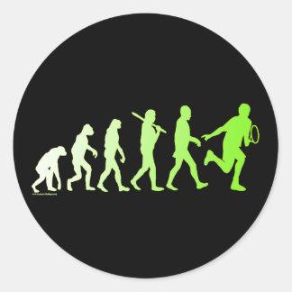 Evolution Tennis Humorous Tennis Tshirt Classic Round Sticker