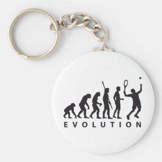 evolution tennis keychain