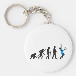 evolution tennis more player keychain