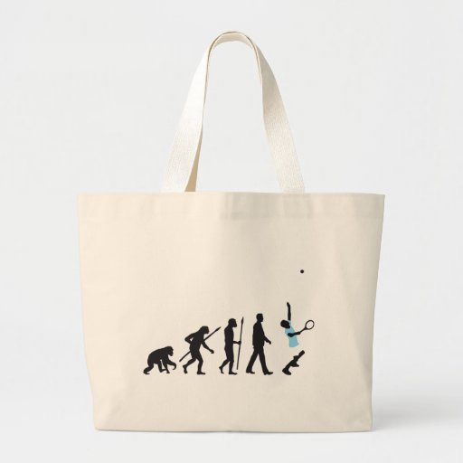 evolution tennis more player tote bag