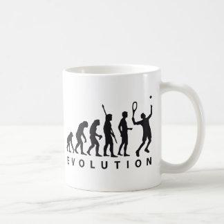 evolution tennis coffee mug