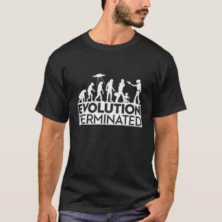 Evolution Terminated 2 - White on Black T-Shirt
