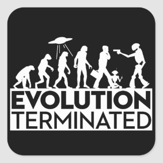 Evolution Terminated-White on Black Sticker