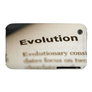 Evolution text on page Case-Mate iPhone 3 case