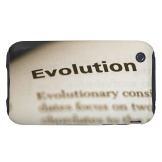 Evolution text on page tough iPhone 3 case