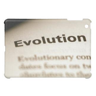 Evolution text on page iPad mini case