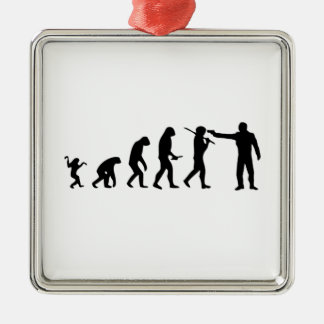 Evolution theory metal ornament