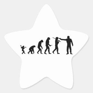 Evolution theory star sticker