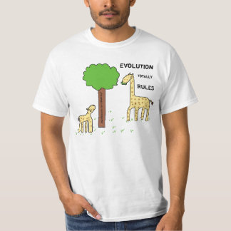 Evolution totally rules! t shirts