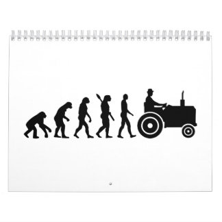Evolution tractor farmer calendar