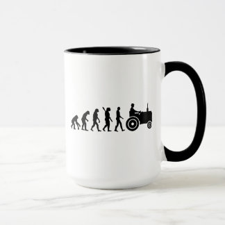 Evolution tractor farmer mug