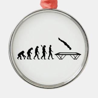 Evolution Trampoline Metal Ornament