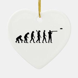 Evolution trap shooting ceramic ornament