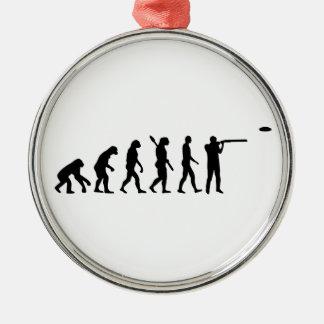 Evolution trap shooting metal ornament