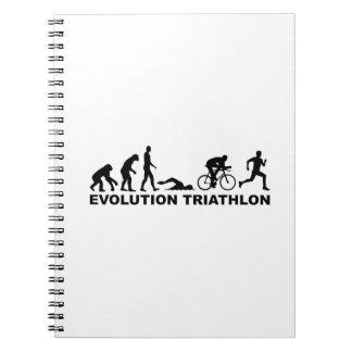 Evolution triathlon spiral note books