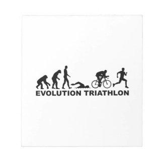 Evolution triathlon notepad