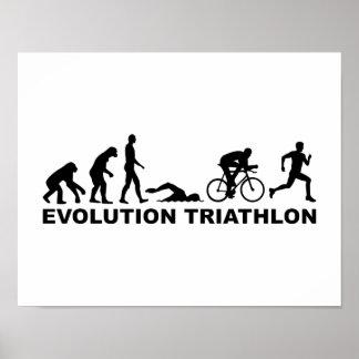 Evolution triathlon poster