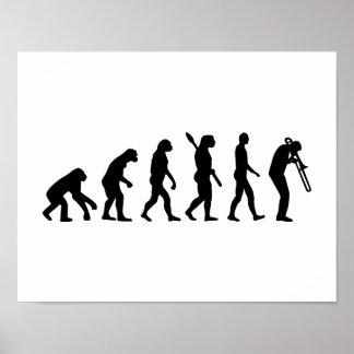 Evolution Trombone Poster