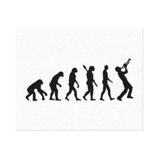 Evolution trumper canvas print