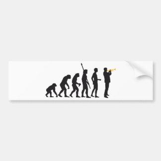 evolution trumpet more player bumper sticker