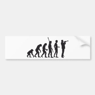 evolution trumpet more player bumper sticker