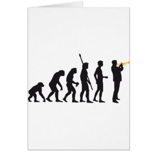 evolution trumpet more player greeting card