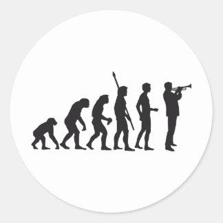 evolution trumpet more player classic round sticker
