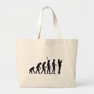 evolution trumpet more player large tote bag