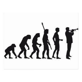 evolution trumpet more player post card