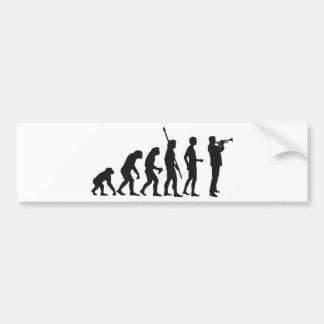 evolution trumpet player pegatina para auto