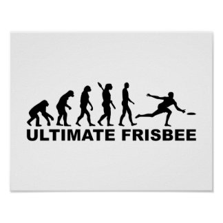 Evolution Ultimate Frisbee Poster