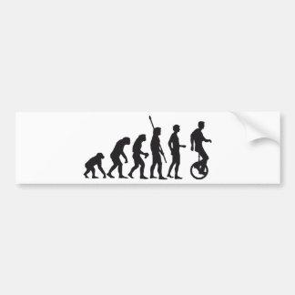 evolution unicycle bumper sticker