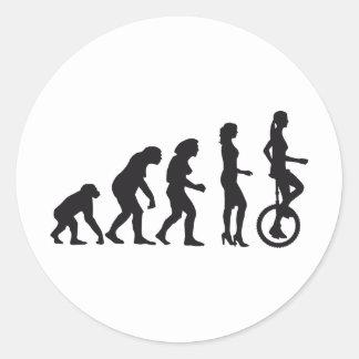 evolution unicycle classic round sticker