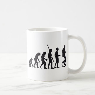 evolution unicycle coffee mug