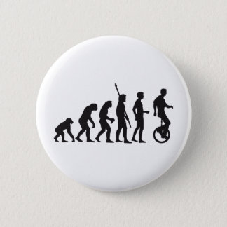 evolution unicycle pinback button