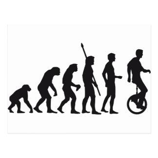 evolution unicycle postcard