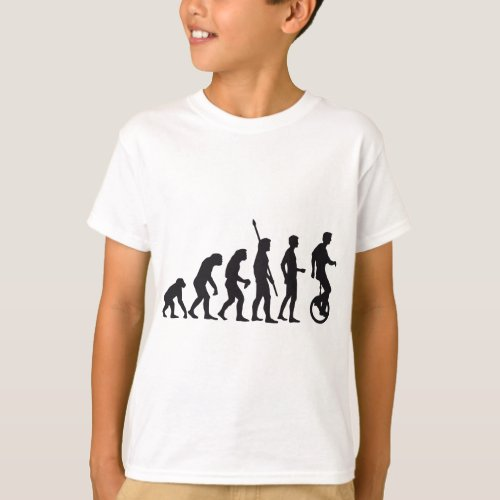 evolution unicycle T_Shirt